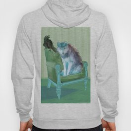 animals in chars #3 The Wolf and the Raven Hoody