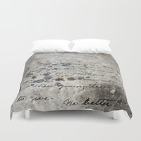 letter Duvet Covers featuring LETTER by ED design for fun