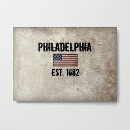 Tribute to Philadelphia, City of Brotherly Love Metal Print