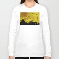cigarettes Long Sleeve T-shirts featuring airplanes and cigarettes by Trevor Bittinger