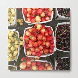 Boxed Cherries New York Metal Print