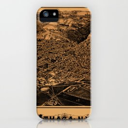 Map Of Ithaca 1882 iPhone Case