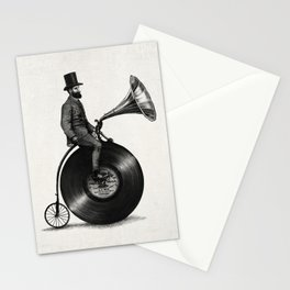 Music Man (monochrome option) Stationery Cards