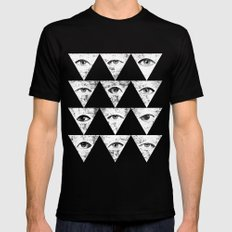 Eyes Mens Fitted Tee Black 2X-LARGE
