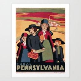 Vintage poster - Rural Pennsylvania Art Print