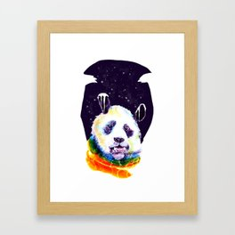 Panda Technicolor Framed Art Print