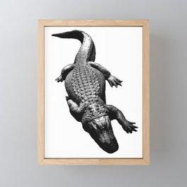 Alligators Love to Swim Framed Mini Art Print