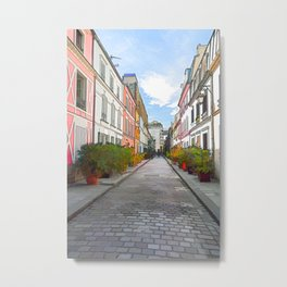 Rue Cremieux in Paris Metal Print