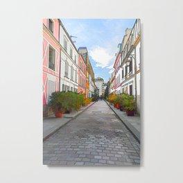 Colored houses in Rue Cremieux - Paris Metal Print