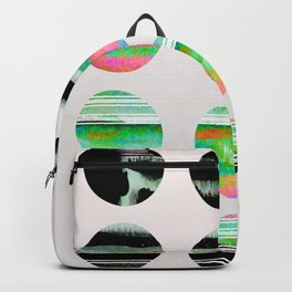 colorful circles pattern design Backpack