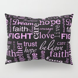 Breast Cancer - Black Pillow Sham