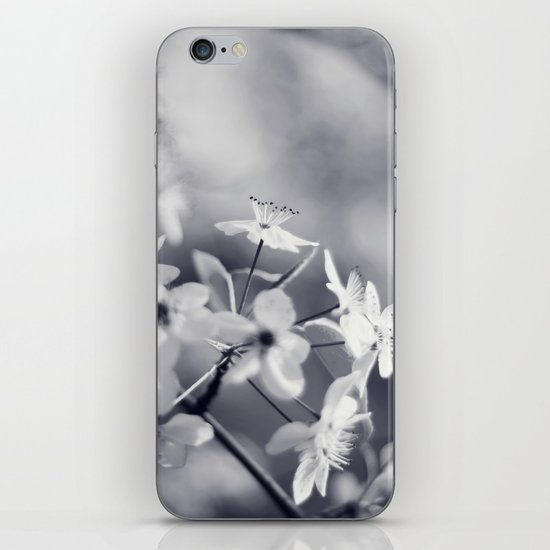 Pear Blossoms in Black and White iPhone Skin