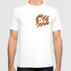 Another night MEDIUM Mens Fitted Tee White