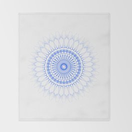 Snowflake #009 transparent Throw Blanket
