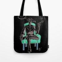 birdman Tote Bags featuring Birdman (Ciao) by Paul Lucido