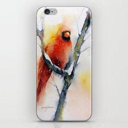 Winter Cardinal iPhone Skin