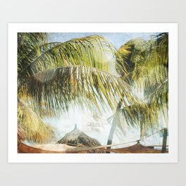 Cabana Beach Art Print