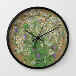Meadow flowers Wall Clock
