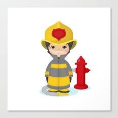 Fireman Canvas Print