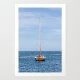 Simple sailboat Art Print