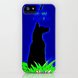 Beautiful Guard Dog I Vow To Protect iPhone Case