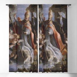 Claudio coello The Triumph of Saint Augustine Blackout Curtain