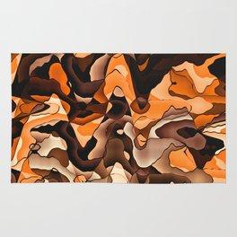 Wavy orange and brown Rug