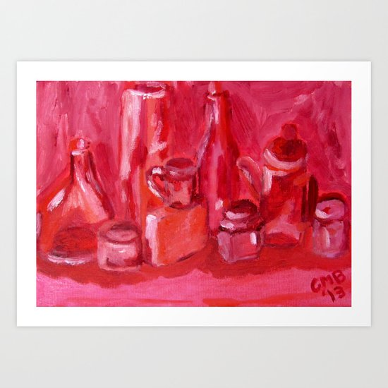 Still Life Study in Pink Art Print