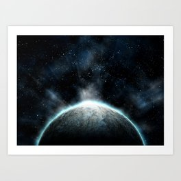 Cold Space Art Print