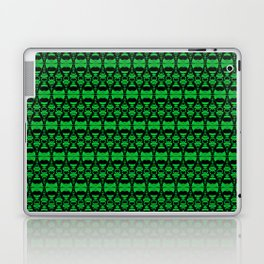 Dividers 02 in Green over Black Laptop & iPad Skin