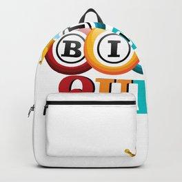 Bingo Queen Bingo Player Gift Funny Backpack