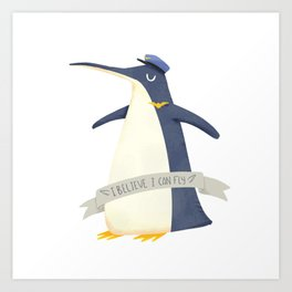 Pilot Penguin Art Print