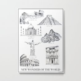 The New Wonders of the World Metal Print
