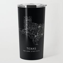 Texas State Road Map Travel Mug