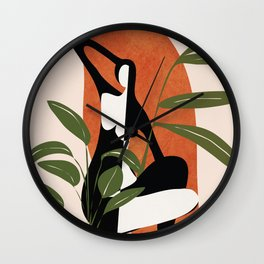 Abstract Female Figure 20 Wall Clock