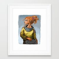 leah flores Framed Art Prints featuring Leah by Khlö