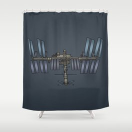 Space station ISS Shower Curtain