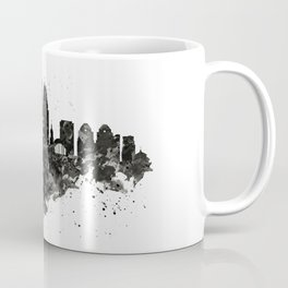Cincinnati Skyline Black and White Coffee Mug