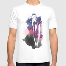 Stevie Nicks SMALL Mens Fitted Tee White