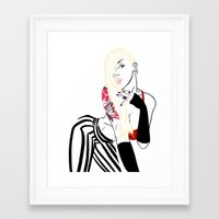celebrity Framed Art Prints featuring Celebrity by Nunyah Bidness