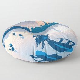Dragon Boat Toronto Canada by Cindy Rose Studio Floor Pillow