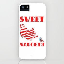 Sweet But Naughty Merry Christmas Happy New Year December 25 T-shirt Design Xmas Holidays Season iPhone Case
