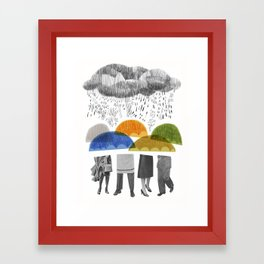 cloudy days for uppercase mag Framed Art Print
