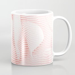 Floral coral - Romantic illusion of roses in seamless stripes Coffee Mug