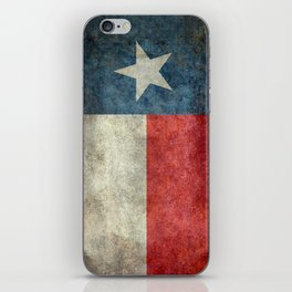 Texas State Flag, Retro Style iPhone Skin