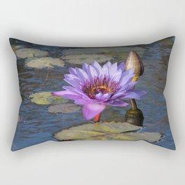 Purple Water Lily Rectangular Pillow