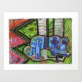Blue Guy Art Print