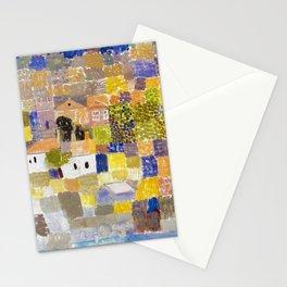 Sicilian Mediterranean Seaside Modern Landscape by Paul Klee Stationery Cards