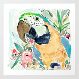 GOLDIE the Macaw Art Print
