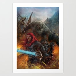 Nath Dragon and Brenwar Boulderguild Art Print